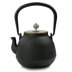 Cast Iron Kettle with Copper Lid and Silver Knob-High-temperature Oxidation-Ashes of Time
