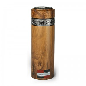Stainless Steel Vacuum Insulated Tumbler with Purple Clay Liner inside-Yellowwood Grain Coating