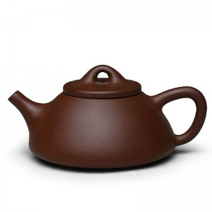 Zi Sha-Purple Clay Tea Pot-170ML-Stone Gourd Ladle-A