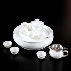 Customizable White Porcelain Gongfu Tea Set-A