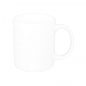 Customizable White Porcelain Mug-A