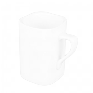 Customizable White Porcelain Mug-H