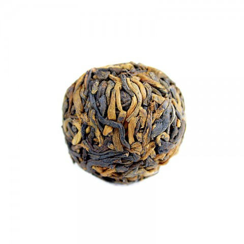 5 Years Aged Meng Hai Court Grade Gold Buds-Handmade Pu-erh Tea Ball-Cooked/Ripe