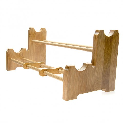 Bamboo Cup Holder-Harp-Double Deck