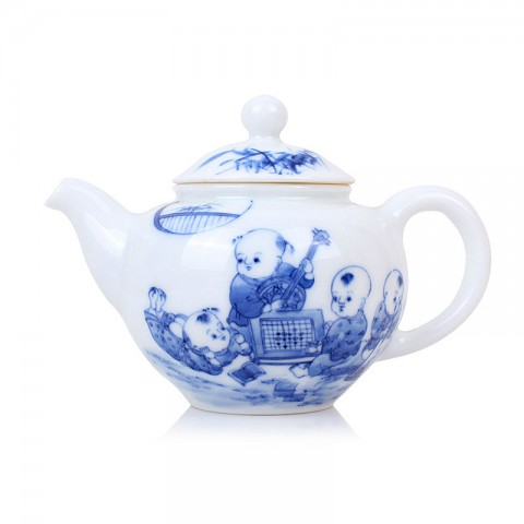 Blue and White Porcelain Tea Pot-Childhood