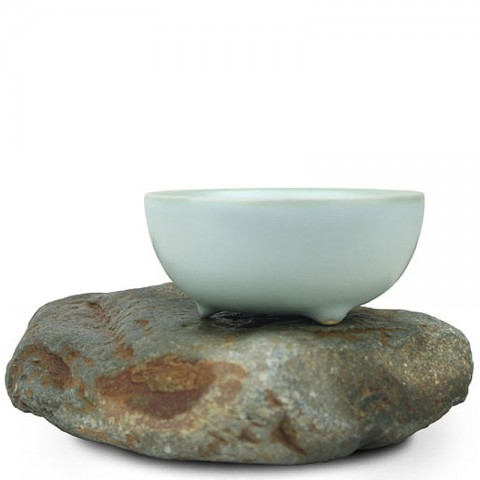 Mr.Zhang-Ru Kiln Tea Cup-Auspicious Clouds-Sky Cyan
