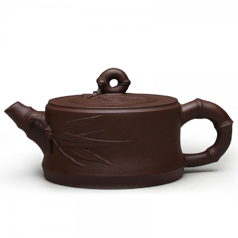 Zi Sha-Purple Clay Tea Pot-150ML-Bamboo Series-A