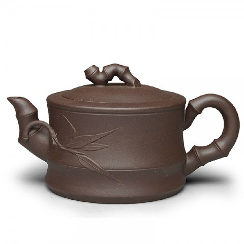Zi Sha-Purple Clay Tea Pot-300ML-Bamboo Series-M