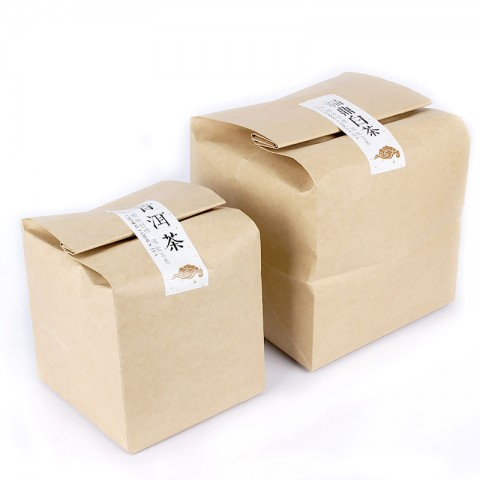 Square Shape Brown Kraft Paper Packing Bag