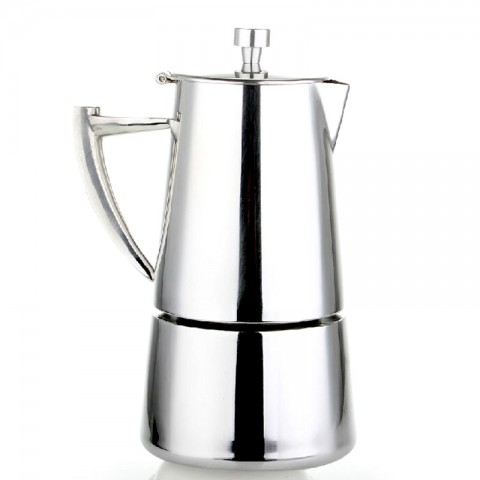 Stainless Steel 4-Cup Stovetop Espresso Maker-A