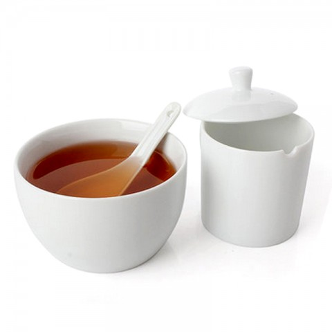 White Porcelain Standard Competition Tasting Set-for Professional Tea Tasting