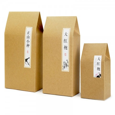 Thick Brown Kraft Paper Folding Gift Pouch/Bag