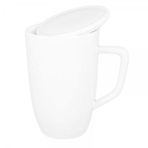 Customizable White Porcelain Mug-E