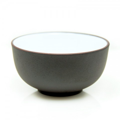 Zi Sha-Purple Clay Tea Cup White Glaze inside-Moon Pool-65ml