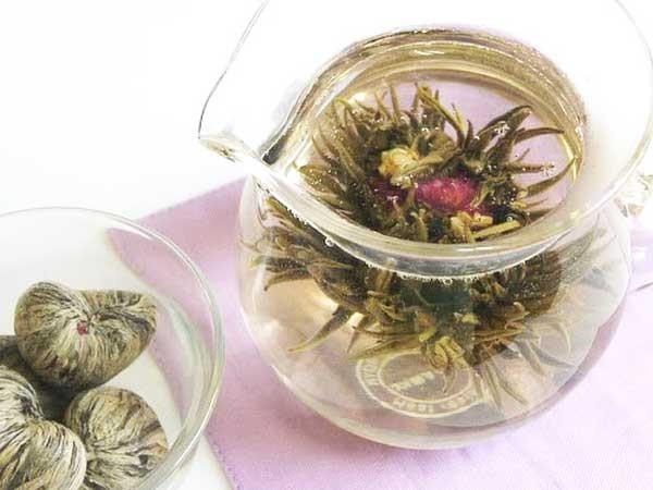 Blooming tea flowering tea love esgreen enjoy slow green white folding box set mightylinksfo