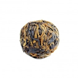 5 Years Aged Meng Hai Court Grade Gold Buds-Handmade Pu-erh Tea Ball-Cooked/Ripe