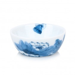 Blue and White Porcelain Cup-Lotus in Cup