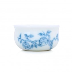 Blue and White Porcelain Cup-Persimmon