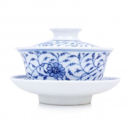 Blue and White Porcelain Gaiwan-The Beauties of Springtime