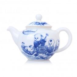 Blue and White Porcelain Tea Pot-Childhood