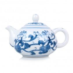 Blue and White Porcelain Tea Pot-Lotus Vine