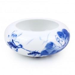 Blue and White Porcelain Water Bowl-Mandarin Fish in Lotus Pond