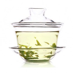 Glass Gaiwan-Fragrant Grass