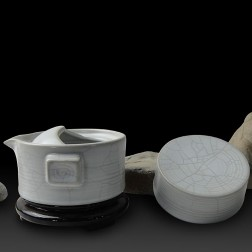Mr.Zhang-Ru Kiln Quick Tea Set-Millstone-Moonlight White