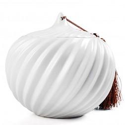 Ru Kiln Porcelain Tea Caddy-Cyclone-Moonlight White