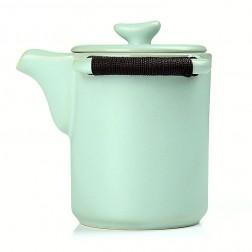 Ru Kiln Tea Hand-pressing Pot-Well-behaved-Sky Cyan