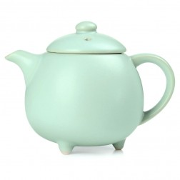 Ru Kiln Tea Pot-The Queen-Sky Cyan
