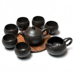 Zi Sha-Black Clay Tea Set-Ram-8 Items/Set