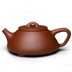 Zi Sha-Di Cao Qing Purple Clay Tea Pot-350ML-Stone Gourd Ladle-G