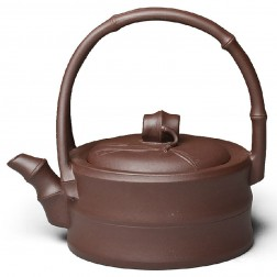 Zi Sha-Purple Clay Tea Pot-170ML-Bamboo Series-N