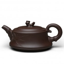 Zi Sha-Purple Clay Tea Pot-250ML-Bamboo Series-B