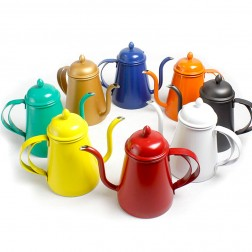 Colorful Painted Stainless Steel Coffee Pot-Through the Ages