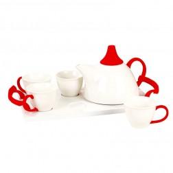 White Porcelain Afternoon Tea Set-Enchanting Spring-A