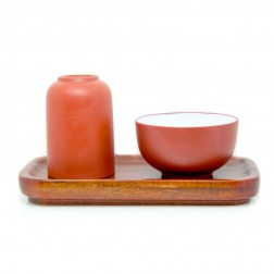 Zi Sha-Red Clay Gongfu Tea Cup Set-Holding Moonlight
