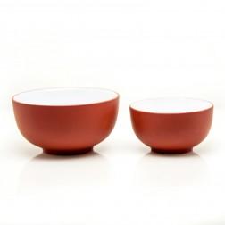 2pcs Zi Sha-Red Clay Tea Cups per Set-Moon Pool-65ml+35ml