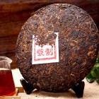 357g-RipeCooked Pu-erh Tea Cake-JingMai Ancient Tea Trees