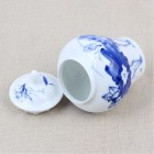Blue and White Porcelain Caddy-Lotus Throne