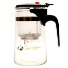 Piao Yi Clear Glass Tea Maker with Infuser-Red Button
