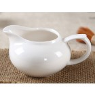 White Porcelain Serving Pitcher-A