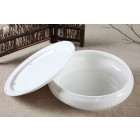 White Porcelain Teatray-A-8 inch