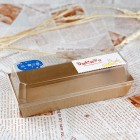 Rectangle PET Cover and Brown Kraft Paper Sandwich/Cake/Bread/Pastry Box-100pcs