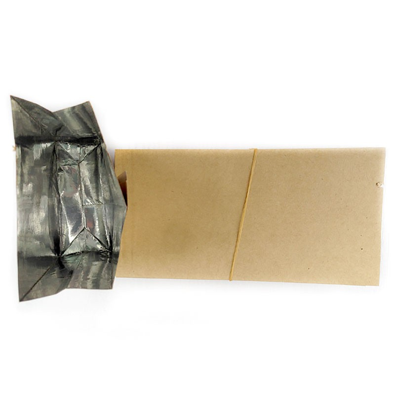 Brown Kraft Paper With Aluminium Foil Lamination Stand Up