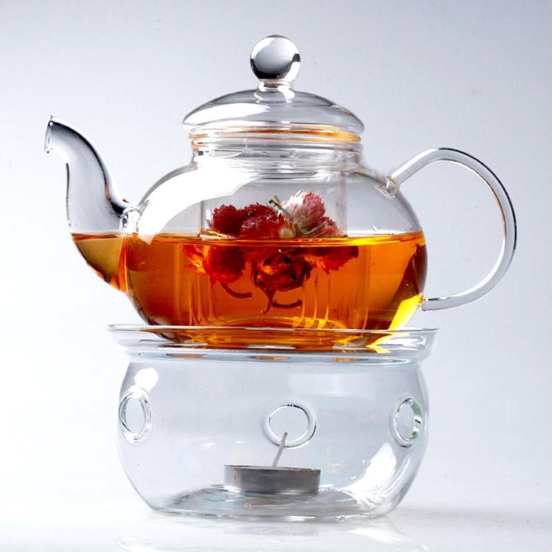 Glass Teapot Warmer Candle Holder Drum Esgreen Esgreen