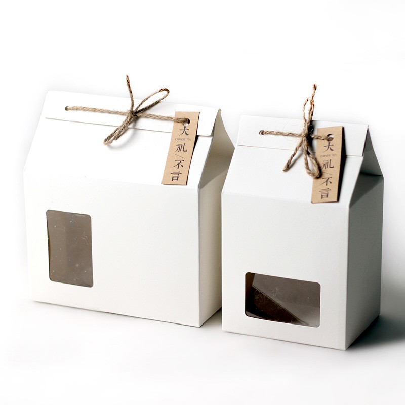Thick Brown Kraft Paper Folding Gift Box With Rectangular