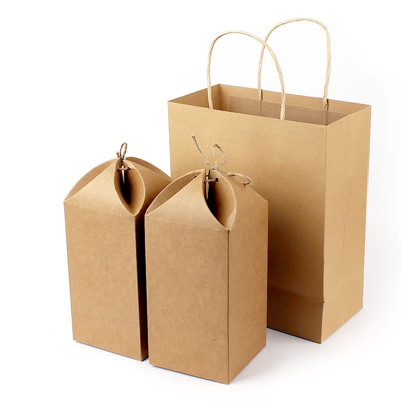 Michaels Brown Favor Boxes : Thick brown kraft paper twine wrapped gift box esgreen