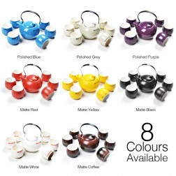 Bio-mineralization Porcelain Tea Set-Zing-8 Colours Available